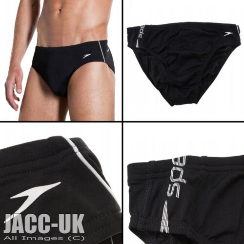 "NEW 34/"" Mens 85cm Black Speedo Swimming Trunks Swim Brief Speedos Lycra Run.776"