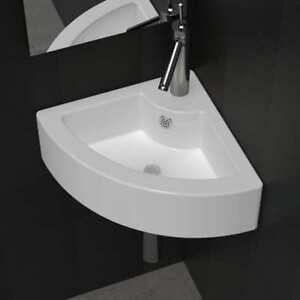 Ceramic Basin Corner Sink Basin Faucet Overflow Hole Modern Bathroom - Modern-bathroom-toilet