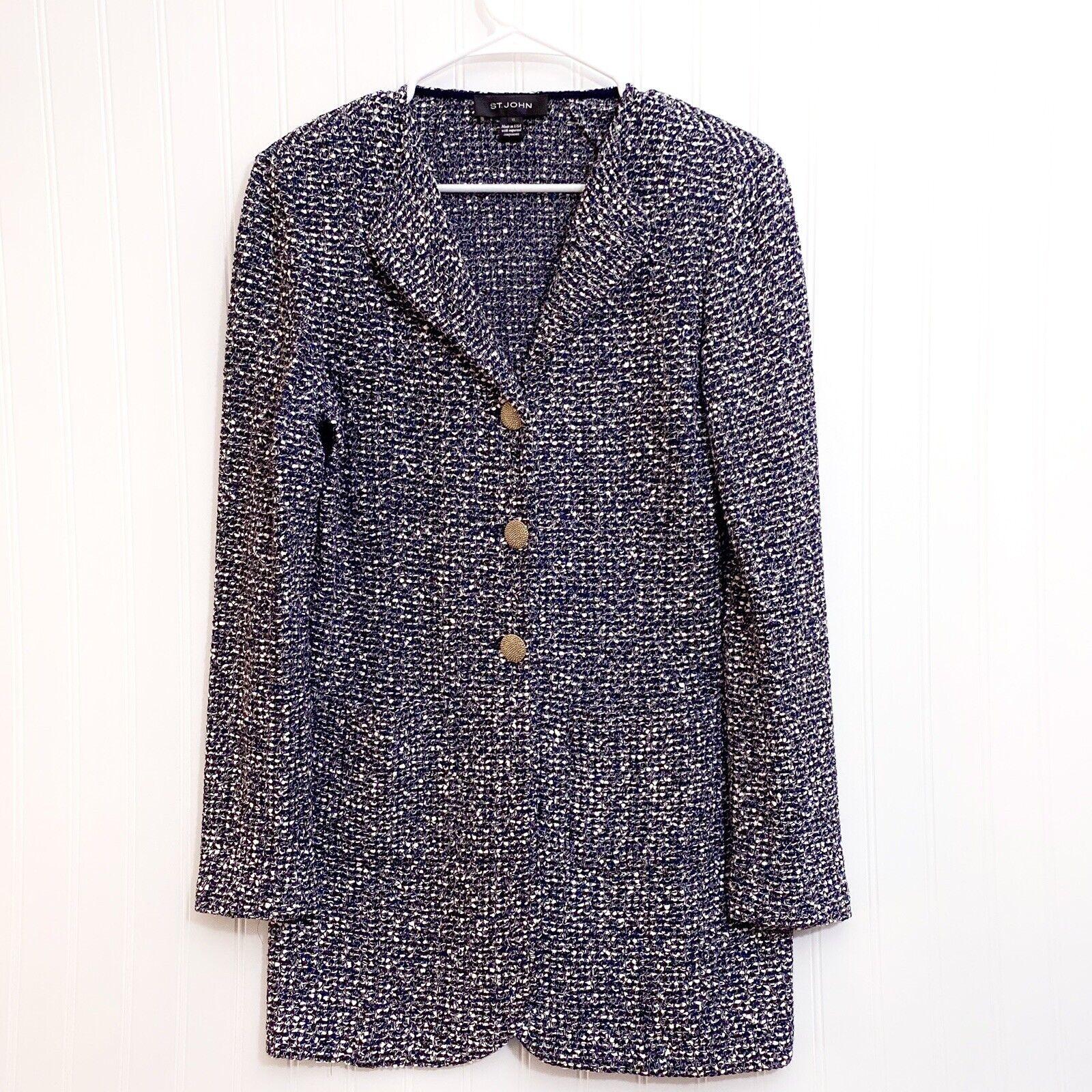 ST. JOHN Textured Tweed Knit Blazer - image 1