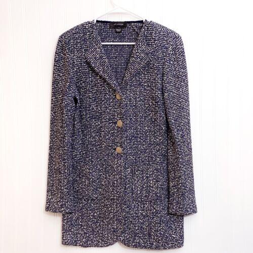 ST. JOHN Textured Tweed Knit Blazer