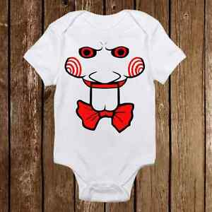 Image Is Loading Funny Baby Onesie SAW Jigsaw Inspired Unisex Baby