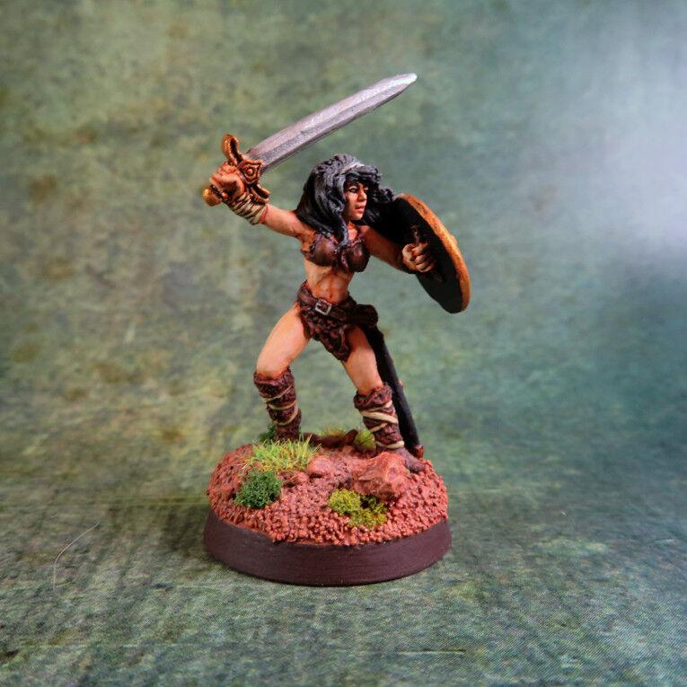 Painted   Marda of the Blade, Barbarian, Reaper Dark Heaven Legends miniature
