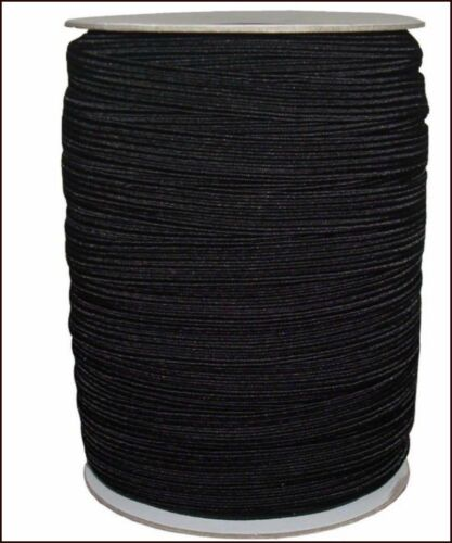 FREE P/&P TOP QUALITY WOVEN ELASTIC BLACK /& WHITE 1//2 INCH 12MM WIDE ART-4077