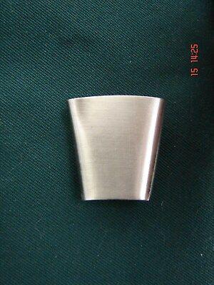 BARTHÜLSE EICHENLAUB versilbert Ø 1,2 cm H 5 cm neu Gamsbarthülse Gamsbarthalter