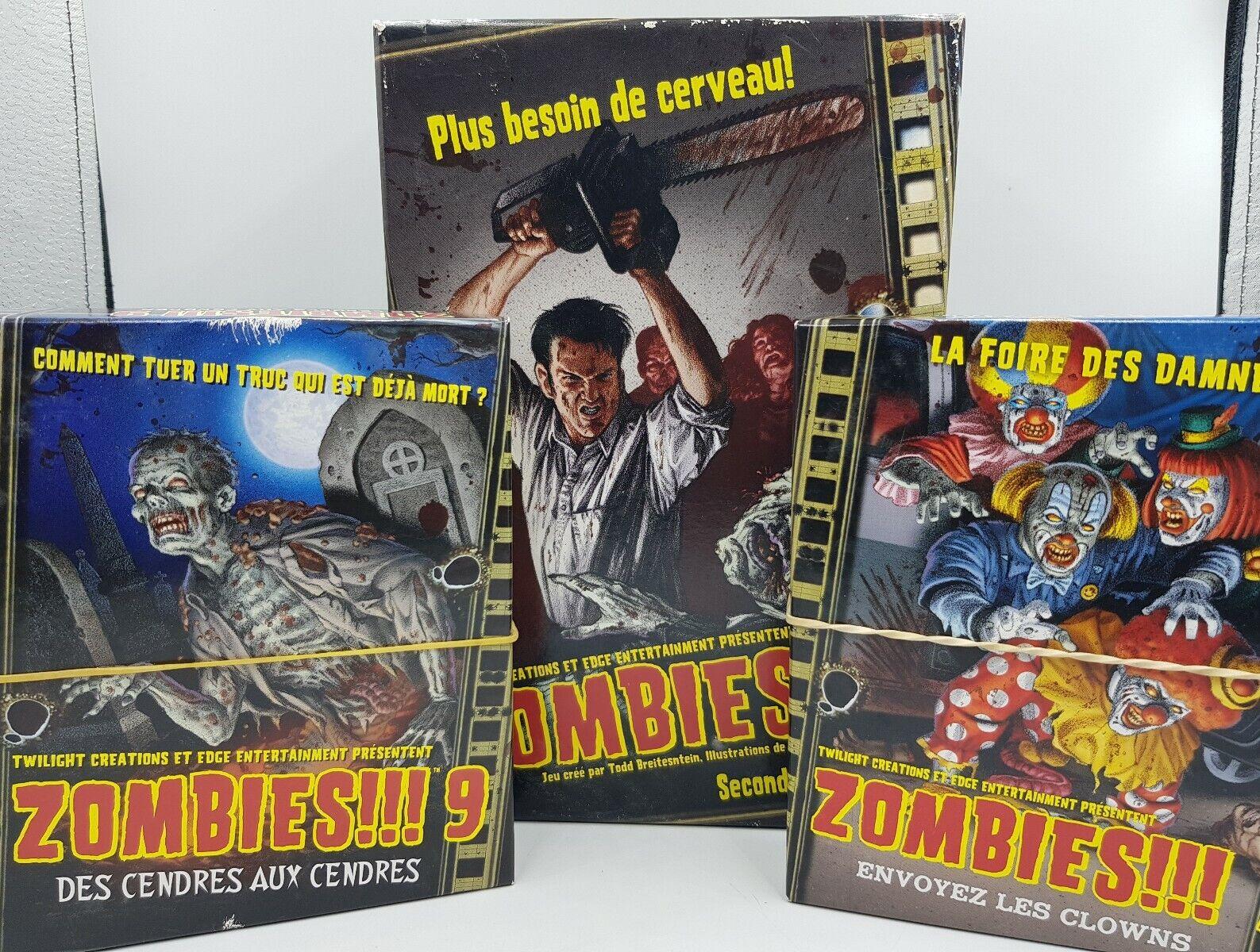 Jeu  de Plateau Zombies     + 2 Extensions Zombies    7 et 9 edizione FR Complet  supporto al dettaglio all'ingrosso