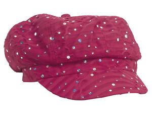 Women-039-s-Glitter-Sequin-Trim-Newsboy-Style-Relaxed-Fit-Hat-Cap