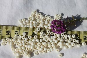 6-0-Czech-Glass-Seed-Bead-Opaque-Bone-Crafts-Jewelry-Making-1oz