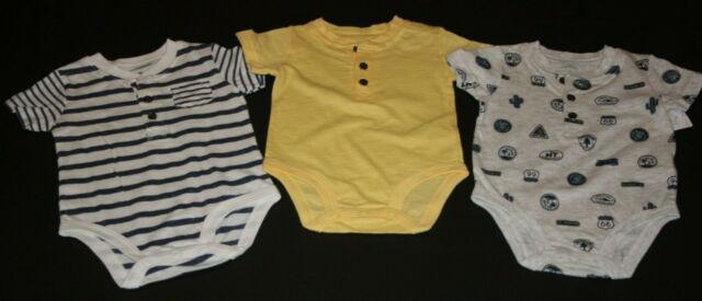 New Carter/'s Girls 3 Pack Henley Style Bodysuits Tops Flowers NWT 3m 18m 24m