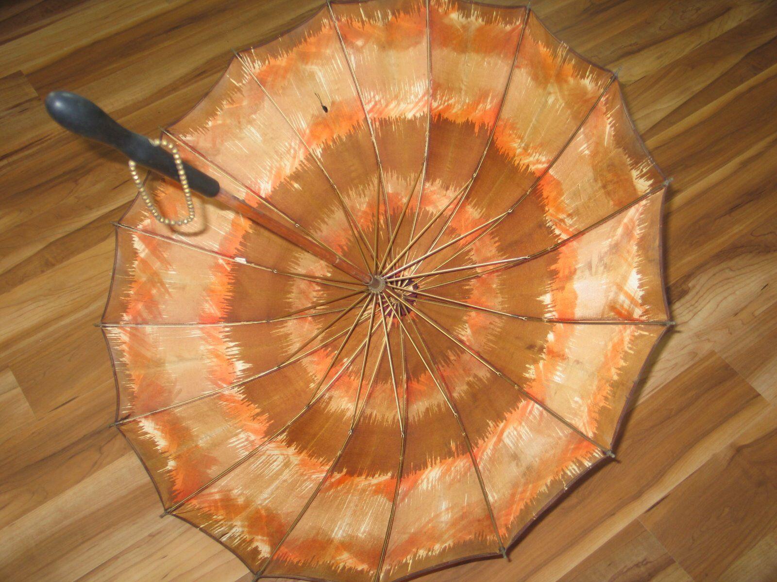 Vintage 1970s Umbrella MOD Fashion-Hippie- Boho-W… - image 9