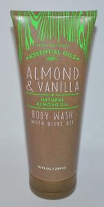 Nuevo-Bath-amp-Body-Works-Almendra-Vainilla-Natural-Aceite-de-Oliva-Gel-Bano-296ml