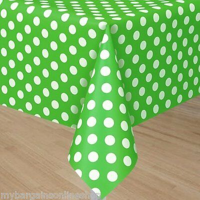 Spotty Polka Dot Or Stripe Table Cover Party Tablecover Assorted Colours