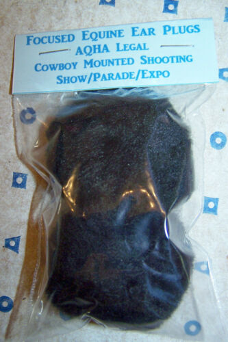 Two Pair 4 AQHA Legal Show Parade Mounted Shooting Horse Equine Ear Plugs Black