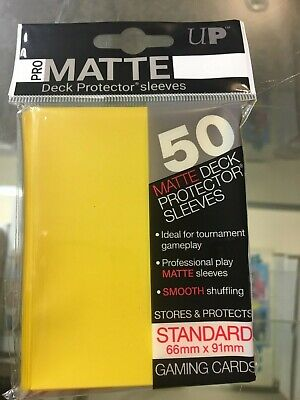 600 Ultra Pro Deck Protector Card Sleeves Pro Matte Yellow Standard Magic