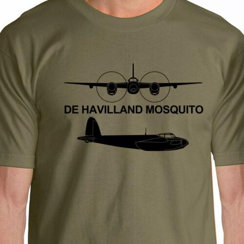 Aeroclassic Silhouette WW2 De Havilland Mosquito Aircraft T-Shirt