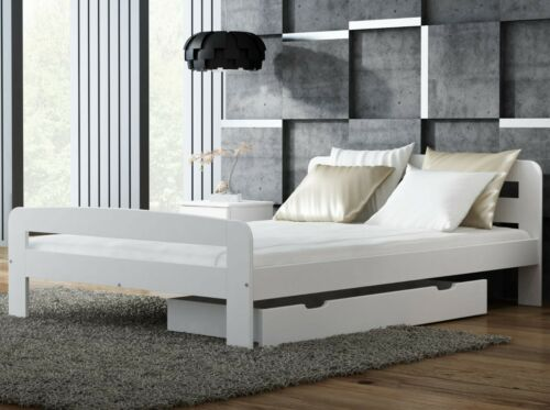 White Pine wood Bed Frame with Slats Single Double Pinewood Slatted 3ft 4ft
