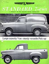 Standard Ten 7cwt Van & Pick-Up 1962-64 UK Market Foldout Sales Brochure