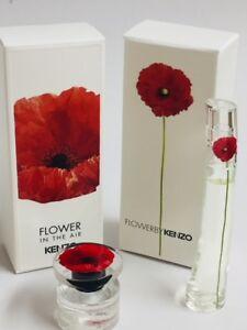 6d1859b8 Kenzo FLOWER & AIR Eau De Parfum 2 PC MINI Travel Size 0.13 oz 4 ml ...