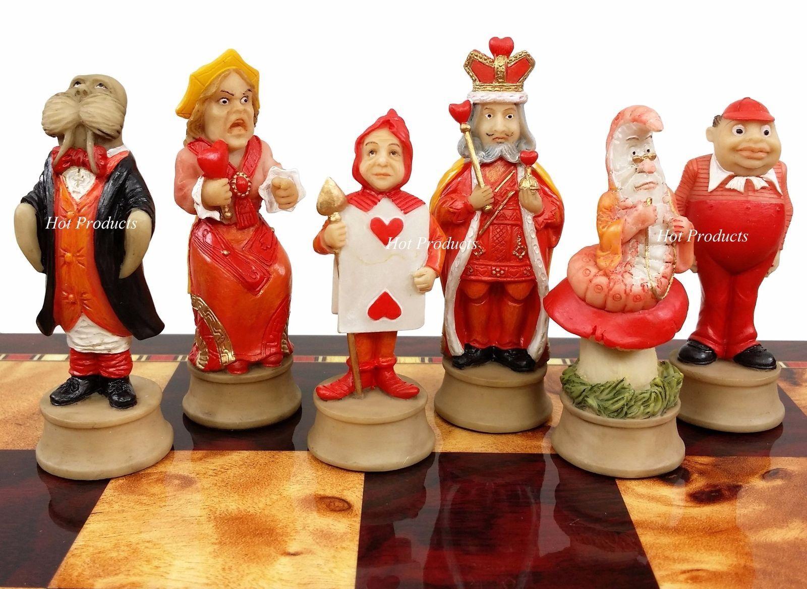 Alice in Wonderland Fantasy Chess Men Set -  NO Board