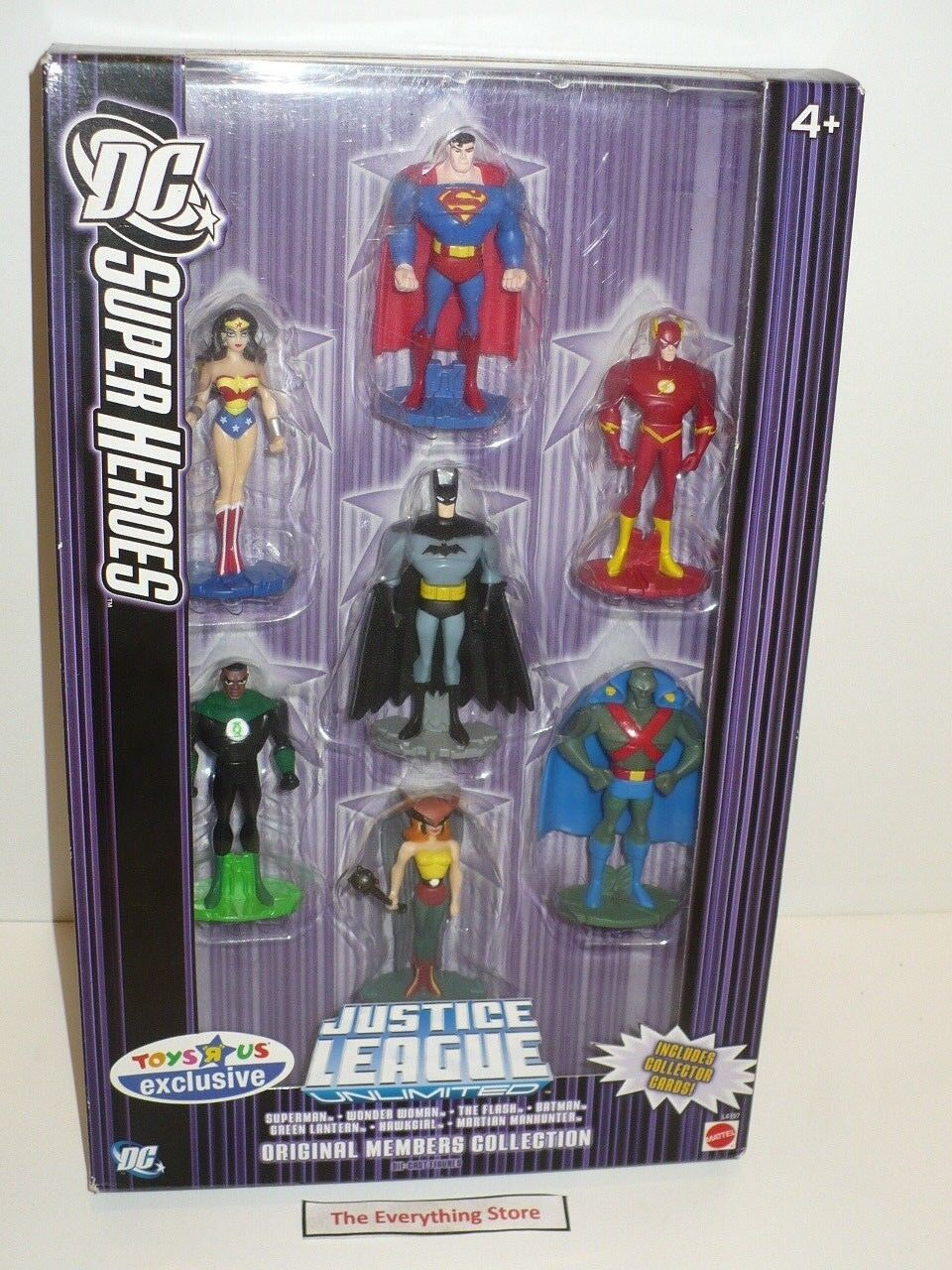 MATTEL JUSTICE LEAGUE UNLIMITED DIE CAST METAL 3 INCH TALL FIGURE SET FREE SHIP