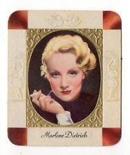 Marlene Dietrich 1934 Garbaty Film Star Series 1 Embossed Cigarette Card #17