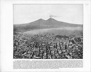 Gulf-Naples-Bay-Golfo-di-Napoli-ITALY-Vesuvius-Windmill-Netherlands-1897-PRINT