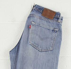 Vintage-Levi-039-s-522-slim-straight-fit-Men-039-s-Blue-Jeans-W29-L32