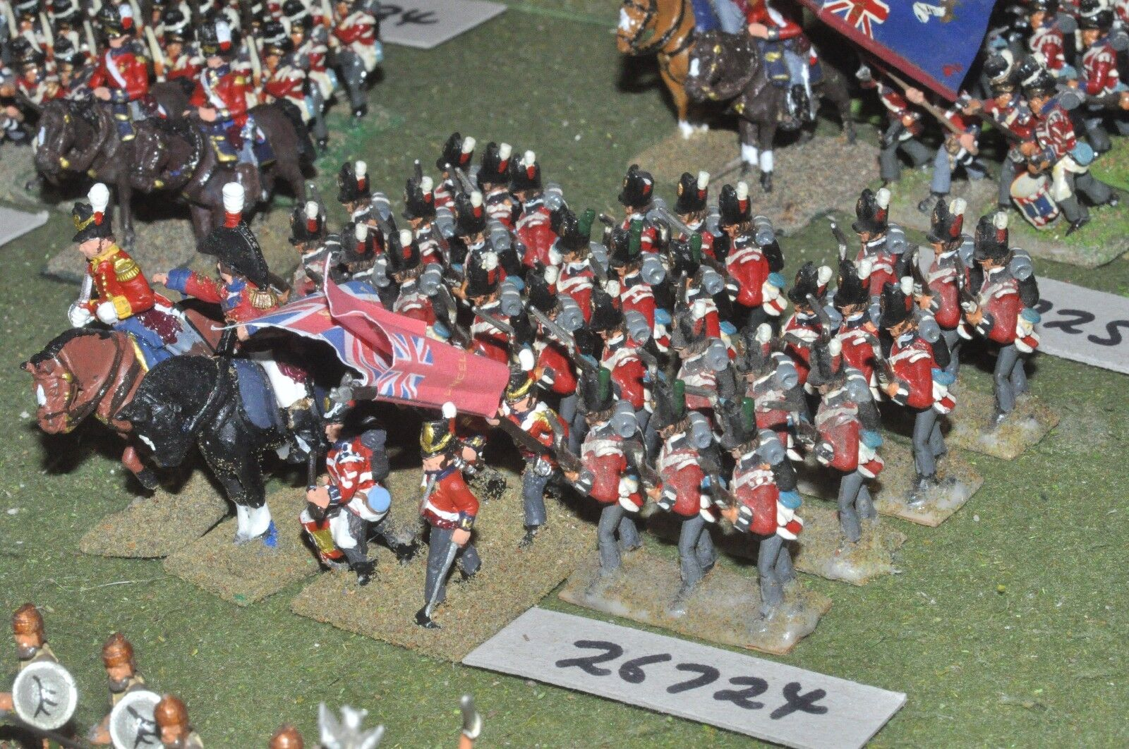 25mm napoleonic   british - line 36 figures - inf (26724)