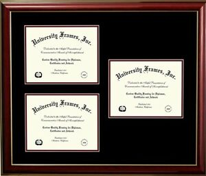 image is loading three any size openings diploma frame black frame - Diploma Frame Size