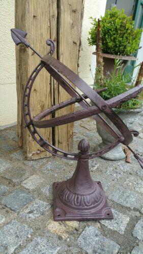 Sonnenuhr 55cm H Gusseisen Antik Nostalgie  Englisch Garten Stil