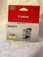 GENUINE Canon Maxify PGI-1200 Yellow Ink Cartridge FACTORY SEALED A8