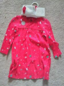 Christmas Dresses With Tights. Age 3-6 Months and 12-18 Months
