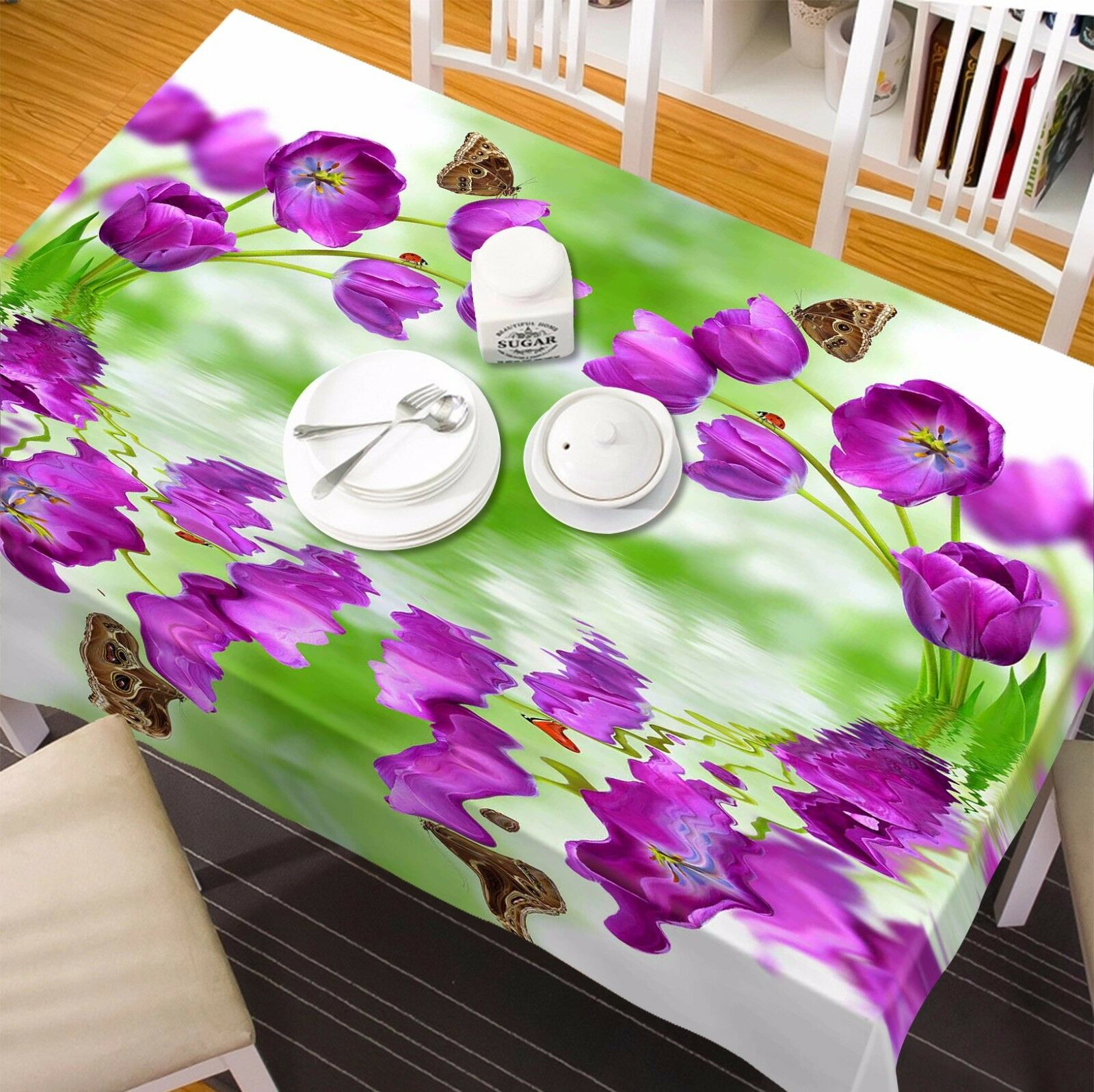 3D Flower 4415 Tablecloth Table Cover Cloth Birthday Party Event AJ WALLPAPER AU