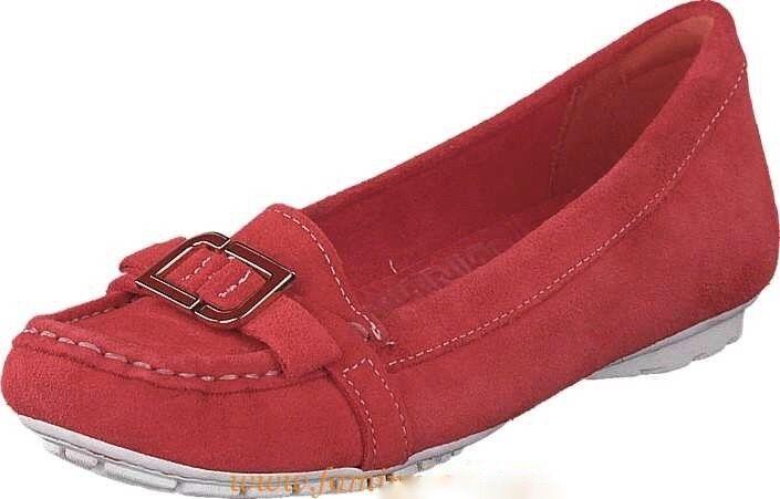 nouveau in Box Rockport etty enamel Mocassin rouge coquelicot en daim, taille grand 8.5 -  100