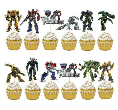 TRANSFORMERS SUPPLIES DECORATION BIRTHDAY PARTY BALLOON CUPCAKE TOPPER CAKE