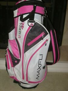 Nice Maxfli U Series 4 0 Golf Cart Secure Bag 14 Section Pink White Black Ebay