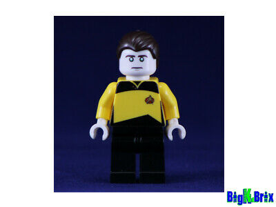 Custom Captain Kirk minifigures on lego bricks star trek space classic