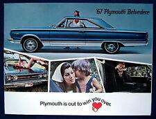 Prospekt brochure 1967 Plymouth Belvedere  (USA)