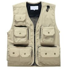 Multifunction 12 Pockets Mesh Fishing Vest Photo Waistcoat Outdoor Jacket 2016