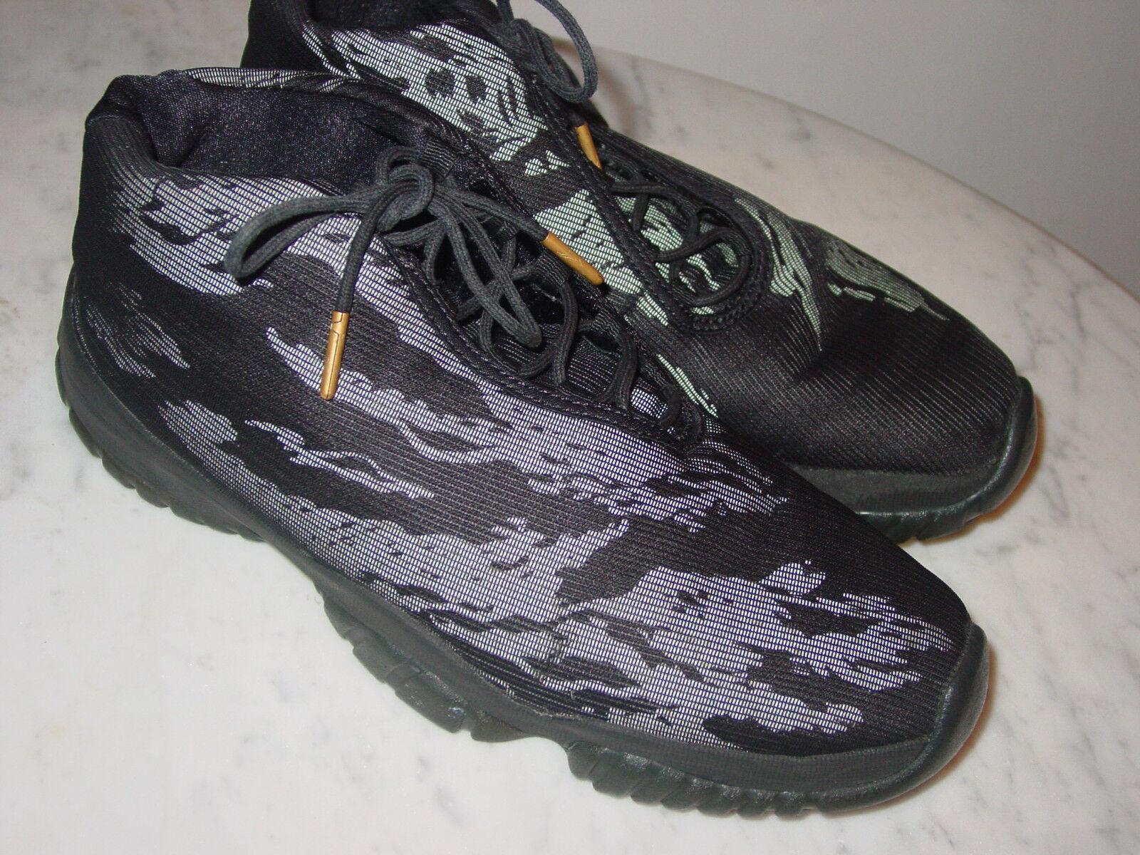 2014 Mens Nike Air Jordan Future 3M Reflective Tiger Black/Gold Shoes  Size 10