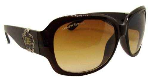 DE Sunglasses Ladies Women Brown Black Pink Designer Large Retro Vintage Big