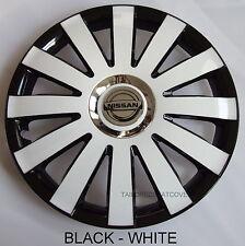 14'' Wheel trims Hub Cups for Nissan  4x14'' black - white