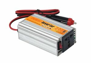 Car Power Inverter with USB Port for Laptops, Mobile 200 Watts 12v DC to 220v AC