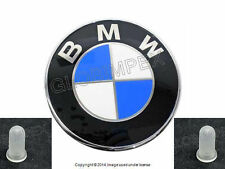 BMW E46 E90 Rear Decklid Trunk Emblem badge KIT GENUINE + 1 year Warranty