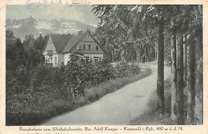 Schlesien Schlesien Fremdenheim Zum Waldschulmeister 1934 Postkarte Sonnig Kiesewald Rgb