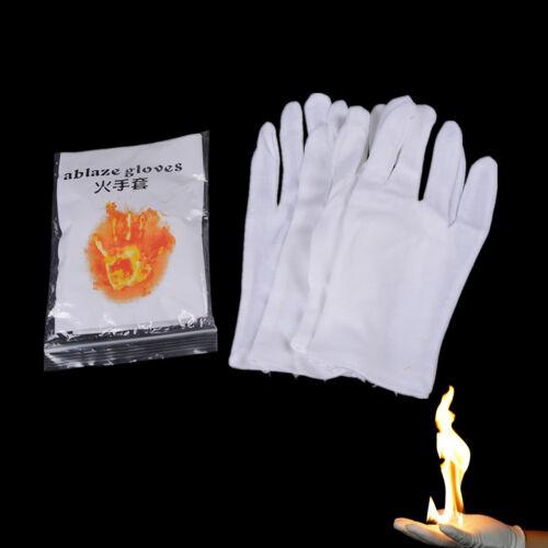 2 Pair Magic Fire  Gloves Bring Fire from Glove Palm Magic Props Magic Tricks xe