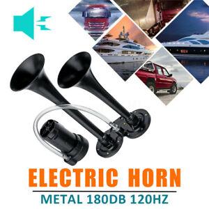 180db-Air-Horn-Super-Loud-Dual-Trumpet-Boat-Car-Truck-Train-12V-Black-6