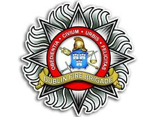 4x4 inch Dublin Fire Brigade Sticker - decal fire firefighter ireland irish