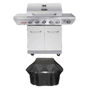 Propane Gas Grill 5 Burner Stainless Steel BBQ Barbecue ...