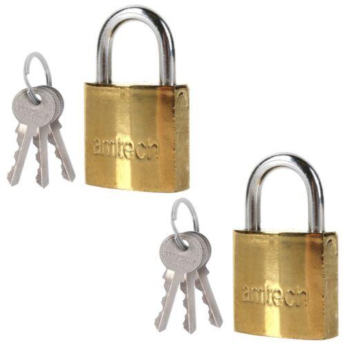 2 Gold Mini cadenas 25 mm Serrure de porte 3 De rechange Clé bagages Pack Voyage Sac Tente Fermeture Éclair
