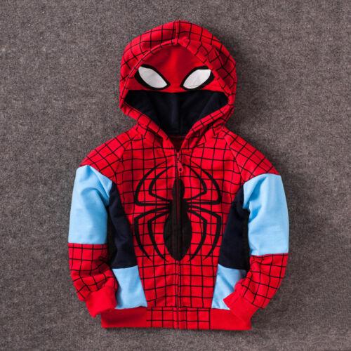 Kids Boys Marvel Superhero Clothes Hoodies Sweatshirt Jumper Coats Shirt Outfits